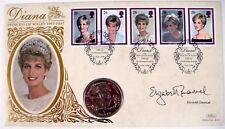 SALE! PRINCESS DIANA PNC COIN STAMPS BOSNIA COIN 1998 MEMORIAL BENHAM SILK COVER