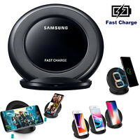 Wireless Charging Pad Qi Fast Charger Stand Dock For Samsung Galaxy S8 iPhone X