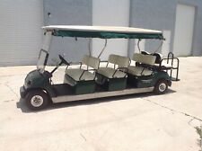 2008 yamaha G22 48 volt limo 8 passenger seat golf cart car green utility box