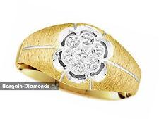 mens diamond  .02 carats wedding 10K gold ring band anniversary clubbing