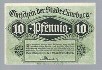 Notgeld - Lüneburg - Stadt Lüneburg - 10 Pfennig - 1920 - Bild: der alte Kran