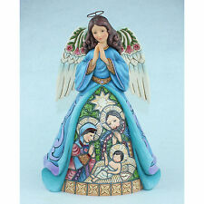 Jim Shore Heartwood Creek Angel Stained Glass Nativity Scene 4055051 NEW NIB