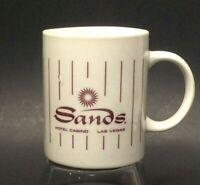 Vintage Sands Hotel & Casino Coffee Mug Las Vegas Nevada Burgundy White
