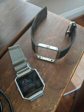 """Fitbit Blaze smart fitness watch, with magnetic band and extra """"stand"""" charger"""