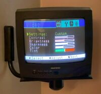 """Rare Used Retro Daewoo 13"""" Gaming Coax TV w/Remote,RCA Adapter,Wall Mount Tested"""