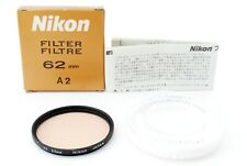 Nikon A2 Lens Fillter 62mm w/Box Excellent+++ From Tokyo Japan Tested #3770