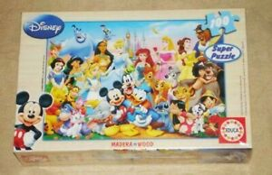 Educa Disney Mickey and Friends 100 pieces wood jigsaw puzzle 12002 new sealed