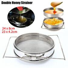 Double Sieve Honey Strainer Filter Stainless Steel Beekeeping Equipment Kit