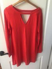 Tart Cutout V Dress- Red- Large- $136
