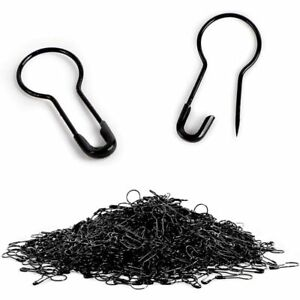 Black Metal Bulb Safety Pins for Clothing (0.87 in, 1000 Pack)