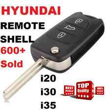 HYUNDAI i20 i30 i35 FLIP KEY REMOTE REPLACEMENT BLANK SHELL CENTRAL LOCKING