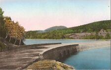 Postcard Maine Bar Harbor Causeway Bridge at Otter Creek Acadia Park Handcolored