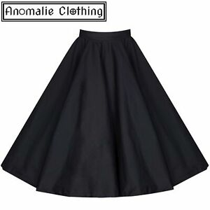 Lindy Bop Black Peggy Rock and Roll Circle Skirt - 1950s Pinup Retro Rockabilly