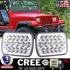 "New listing 7x6"" Led Sealed Beam Headlight H4656 4651 Upgrade Jeep Wrangler Yj 1987-1995 2Pc"