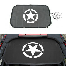 fit 07-18 Jeep Wrangler JK 2dr Sun Shade Top Cover UV Protection Star Roof Mesh