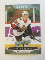 UPPER DECK 2019 - 2020 MVP VITALY ABRAMOV ROOKIE 1 CARD