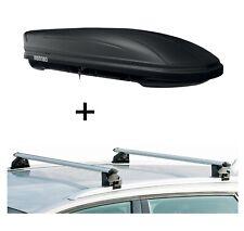 Dachbox MAA400L matt + Relingträger CRV107A für Porsche Macan 5 Türer ab 15