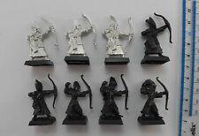 8 HIGH ELF ARCHERS Metal Elves Aelf Aelves Army Bowmen Warhammer 1990s PF2