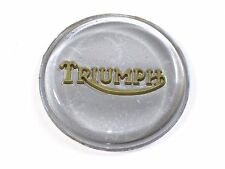 Triumph tank top badge silver gold logo T140 Bonneville emblem
