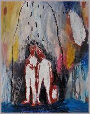 nabARus  080513 - Huile sur bois-Oil - Outsider Art Brut Singulier  20x25 cm
