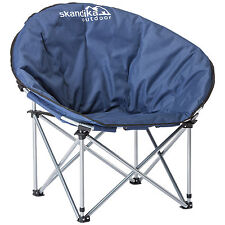 Skandika Pluto Moonschair Camping Chair Folding Portable Max. 110 kg Blue New