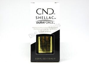 CND Shellac UV/LED Gel Polish Duraforce Top Coat 0.25oz / 7.3ml
