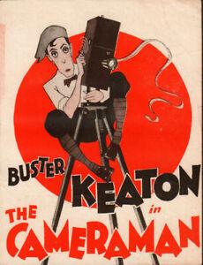 Cameraman Original Movie Herald from the 1928 Movie Buster Keaton Ultra Rare!!!