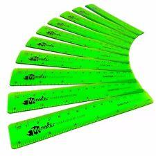 Monster Stationery 15.2cm/15cm Transparente Gobernantes Paquete De 10 Verde