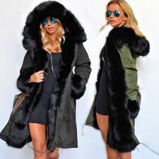 Aofur Women's Winter Warm Coat Hoodie Parkas Overcoat Outwear Jacket Plus size