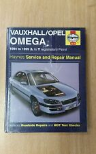 VAUXHALL OMEGA 1994-1999 L-T REG HAYNES WORKSHOP MANUAL 3510 NEW SEALED FREE P&P