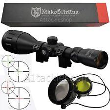 Nikko Stirling Mountmaster 3-9x50 AO IR Illuminated Rifle Scope Sight & Mounts