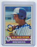 1979 BREWERS Don Money signed card Topps #265 AUTO Autographed Milwaukee