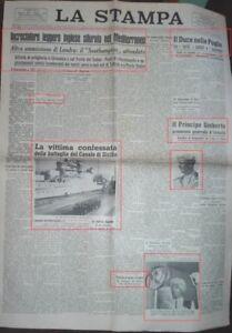 WW2*15/16 GENNAIO 19641 PESANTE BORBANDAMENTO SU CATANIA VITTIME E FERITI*N.3221