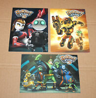 2004 Ratchet & Clank 3 Up Your Arsenal rare Promo Postcard Set Playstation 2