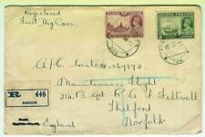 Burma 1938 KGVI FDC to Thetford, backstamped