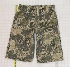 Nice Gymboree sz 8 Boys Green Cargo Elastic Waist Tie Shorts C1036