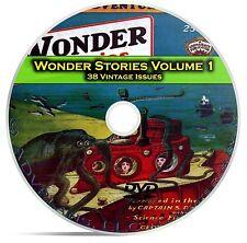 Wonder Stories, Vol 1, 38 Classic Pulp Magazine, Golden Science Fiction DVD C61