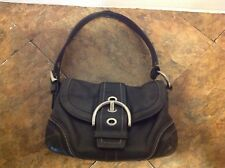 COACH Black Leather Handbag L0682-10577 Beautiful Biker Style