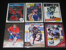"""CRAIG LUDWIG autographed MONTREAL CANADIENS """"centennial"""" card #52"""