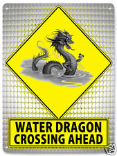 WATER DRAGON asian street SIGN metal great gift wall decor art 531
