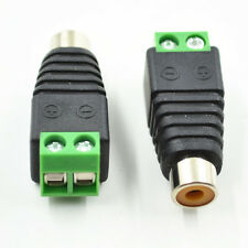 Adapter RCA TV Female Jack to AV Screw CCTV Video/Audio Balum Terminal