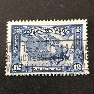 CANADA, SCOTT # 145, 12c. VALUE DARK BLUE 1927 ISSUE USED