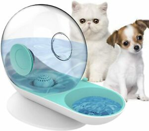 Dogs Cats Gravity Water Dispenser Bowl Automatic Drinking Fountain No Electric
