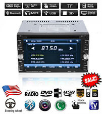 "6.95"" Double 2Din Car Stereo DVD CD MP3 Player HD In Dash Bluetooth TV Radio E"