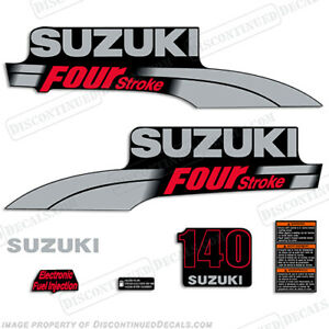 Suzuki 140hp 2003-2009 FourStroke Outboard Engine Decal Kit DF140 marine decals