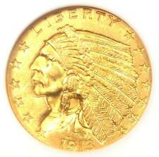 1913 Indian Gold Quarter Eagle $2.50 Coin - Certified NGC AU58 - Rare Coin!