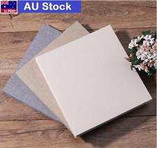 DIY Photo Album Cotton Linen Cover Self Adhesive Scrapbook 20 sheets