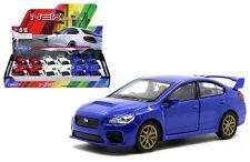 Subaru WRX STi 1:34-1:39 Die Cast Car White/Red/Blue Collection New Gift