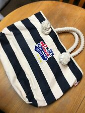 GENUINE SUPERDRY LARGE CANVAS TOTE - Navy & Cream Stripes - Thick Rope Handles