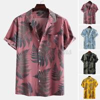Men's Hawaiian Floral T Shirt Short Sleeve Vacation Beach Party Tops Blouse Tees